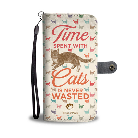 Wallet Case - Time With Cats Phone Case - Samsung
