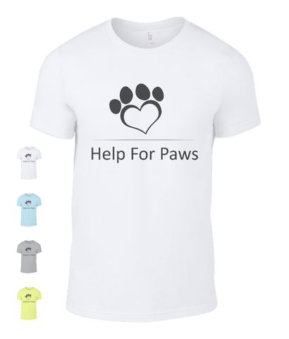 Clothing - Help For Paws Black Logo T-Shirt
