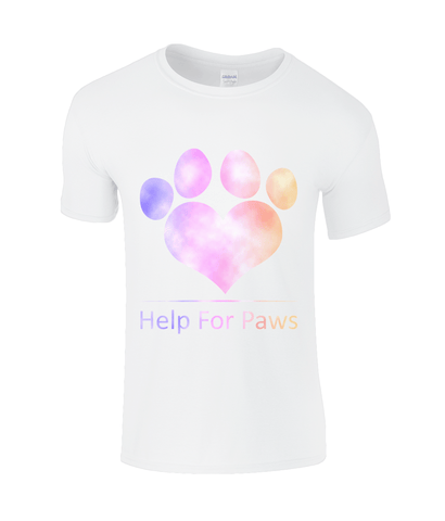 Clothing - Help For Paws Rainbow Clouds T-Shirt