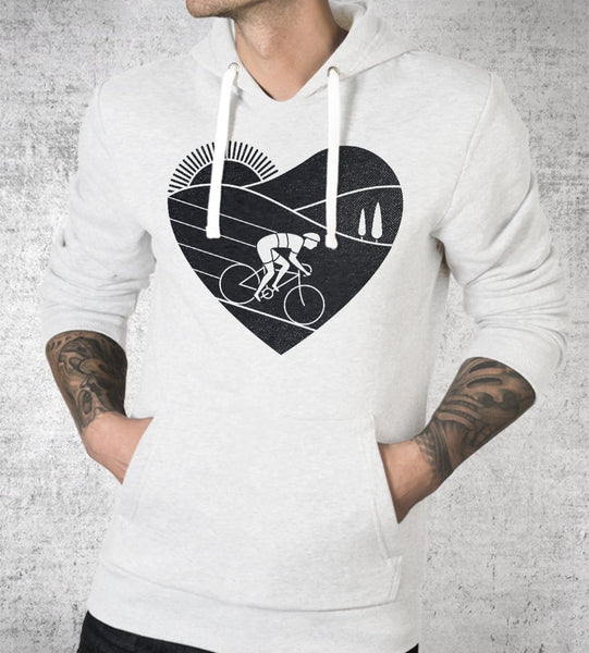 Love Cycling Hoodies by Rick Crane - Pixel Empire