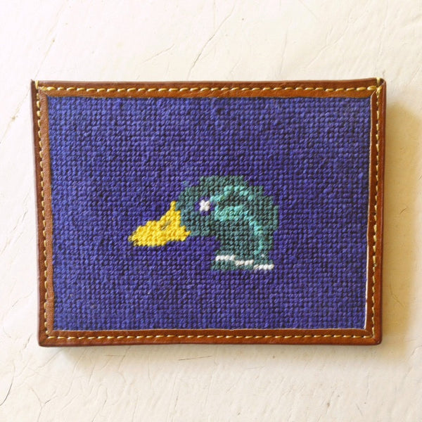 Mallard Duck Needlepoint Card Wallet