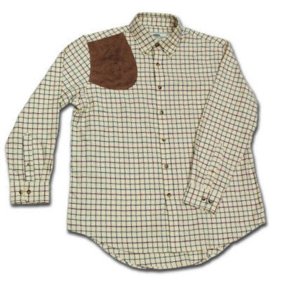 Window Pane Shooting Shirt With Suede Shoulder Pad