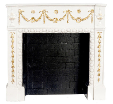 Copy of Fireplace with White and Gold