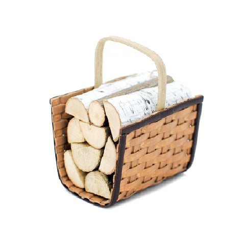 Firewood Carrier With Wood by Chandronnait - Discontinued