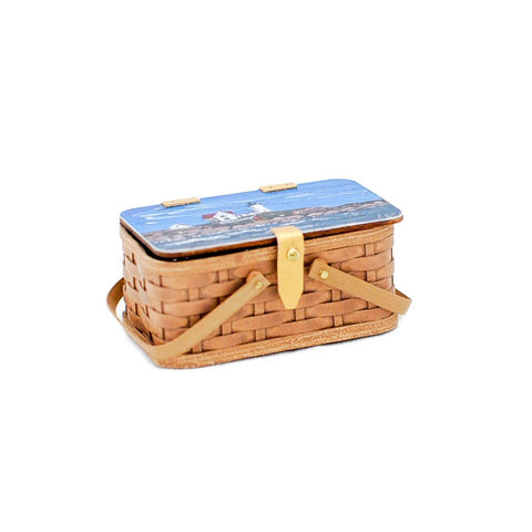 Picnic Basket with Lighthouse Theme - Discontinued