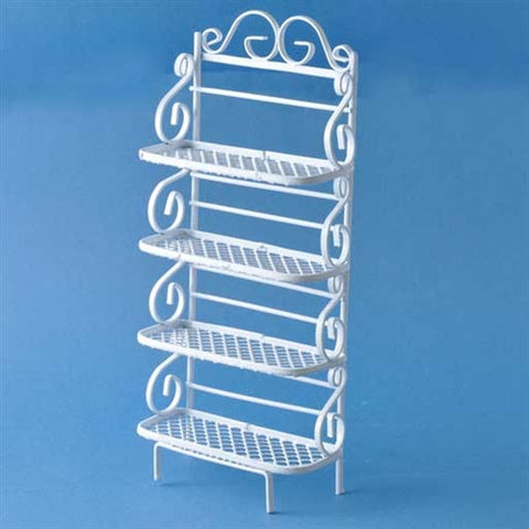 Bakers Rack Shelves, White