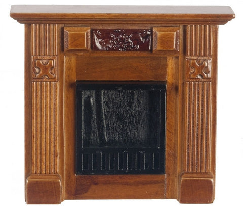 Elizabeth Fireplace, Walnut or Mahogany Finish