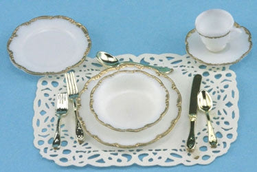 Place Setting For One - GOLD TRIM