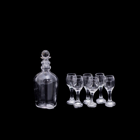Glassware Set with Decanter and Wine Glasses