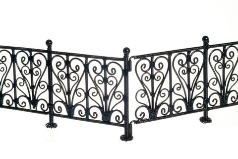 6-Pc. Black Wrought Iron Fence
