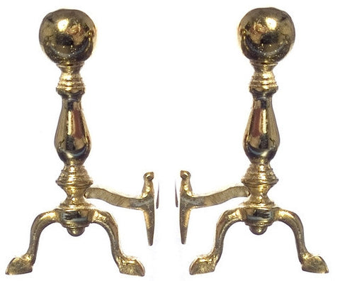 Andirons, Woodfield Brass  Discontinued