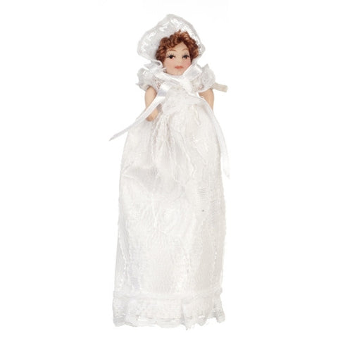 Baby Doll in White Gown