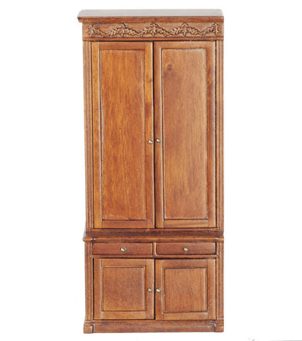 Wardrobe, Simple Design, Walnut