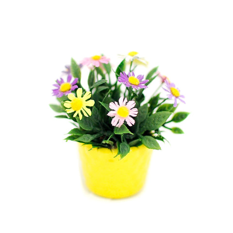 Basket of Pastel Daisies