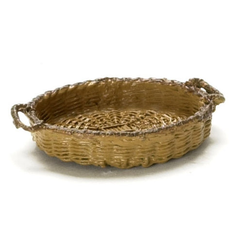 Basket, Low, Oval, Brown