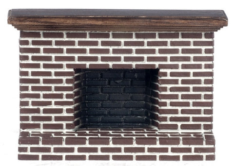 Brick Fireplace with Raised Hearth