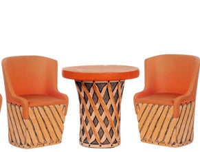 Mexican Equipale Table and Chair Three Piece Set ON SALE