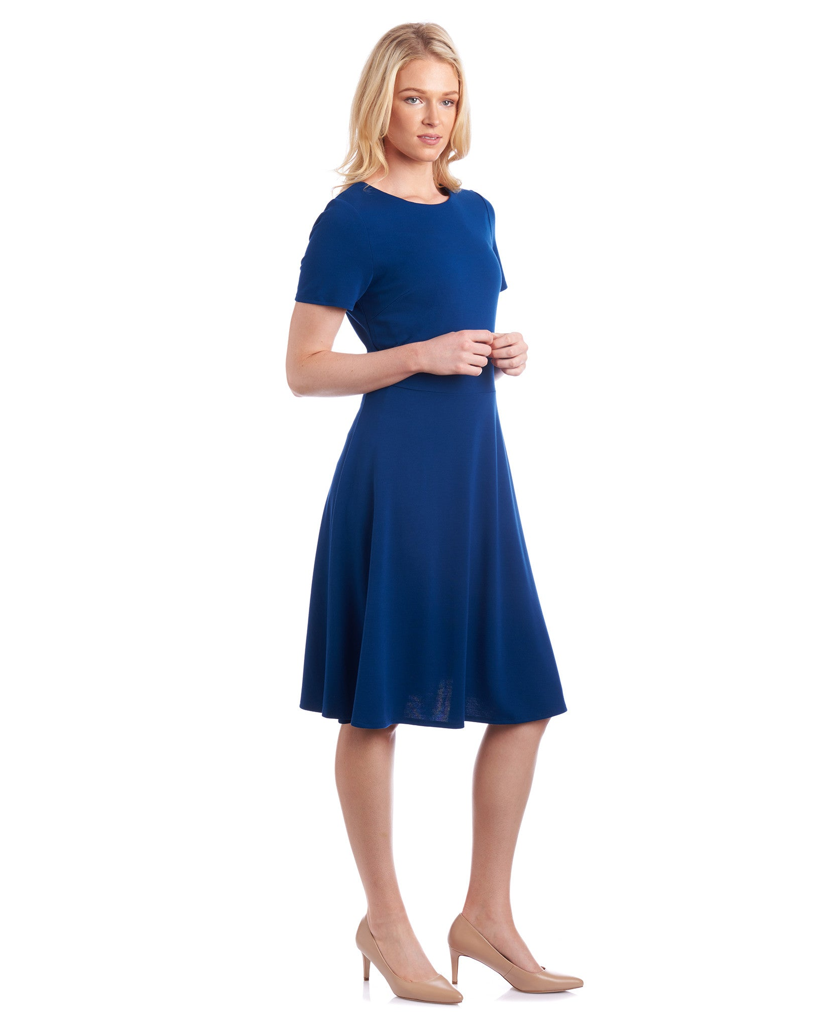 Tahlo fit & flare dress in colour to suit your workwear wardrobe.
