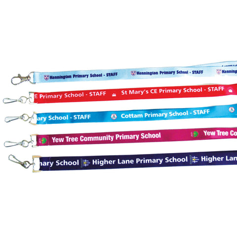 Custom printed lanyard for school business organisation