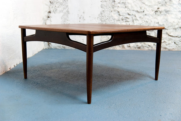 Grande table basse Scandinave carrée - Vintage