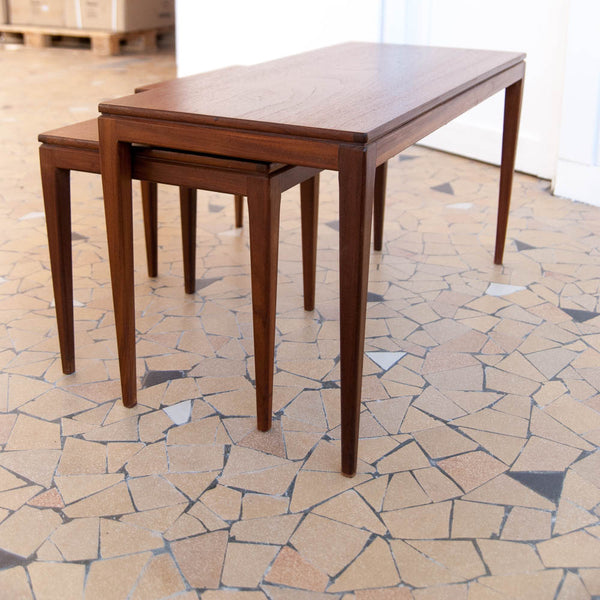 Table basse gigogne en teck