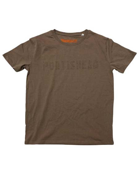 Walnut Crew Neck Inside Out Portishead T-Shirt