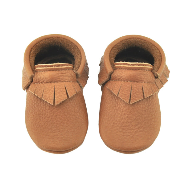 Cookie-Little Lambo vegetable tanned baby moccasins