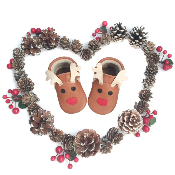 Limited Edition - Rudolph- Little Lambo baby moccasins