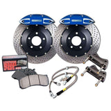 StopTech 08-11 Evo X Rear BBK ST-40 Calipers Drilled 345x28mm Rotors/Pads/SS Lines