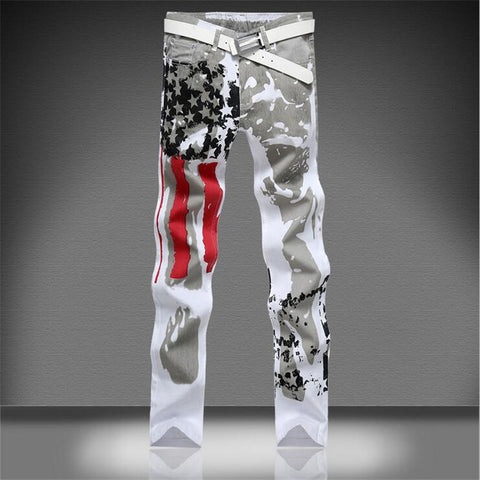 American flag painted Men Jeans -  - Houzz of Threadz - 1