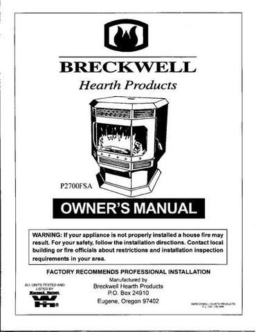 Breckwell P2700 1999 User Manual - Pellet_bp2700 1999