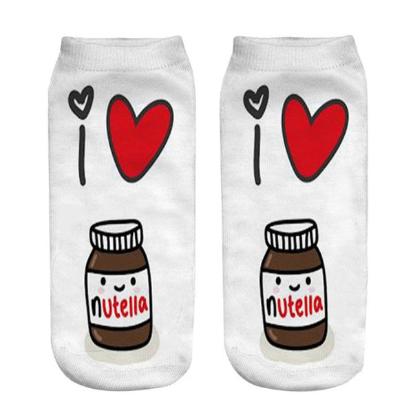 I Love Nutella Socks - Slim Wallet Company