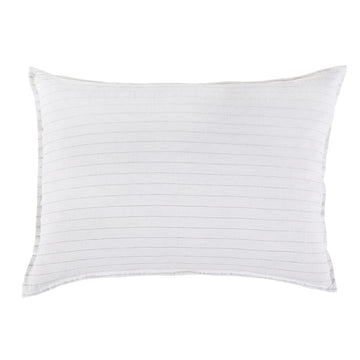 BLAKE BIG PILLOW WITH INSERT WHITE/OCEAN