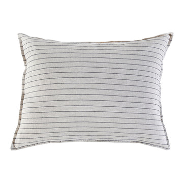 BLAKE BIG PILLOW WITH INSERT FLAX/MIDNIGHT