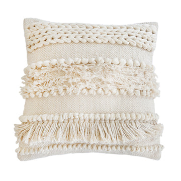 "IMAN HAND WOVEN PILLOW 20"" x 20"" with insert"