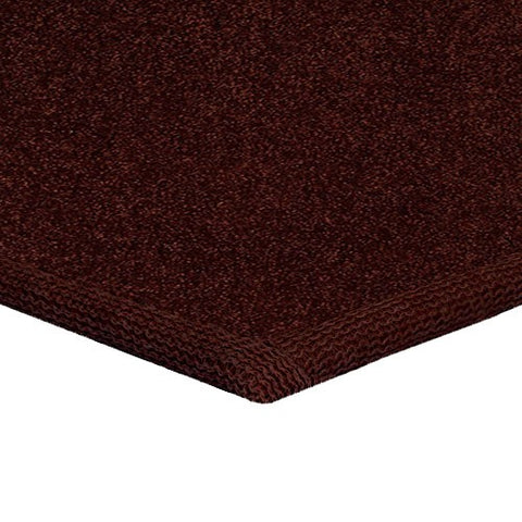 Solid Color Area Rug Square-Chocolate