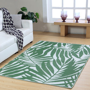 Maple Home Patio Patterned Octavius Outdoor Area Rug - Green