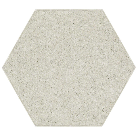 Solid Color Area Rug Hexagon-Off White