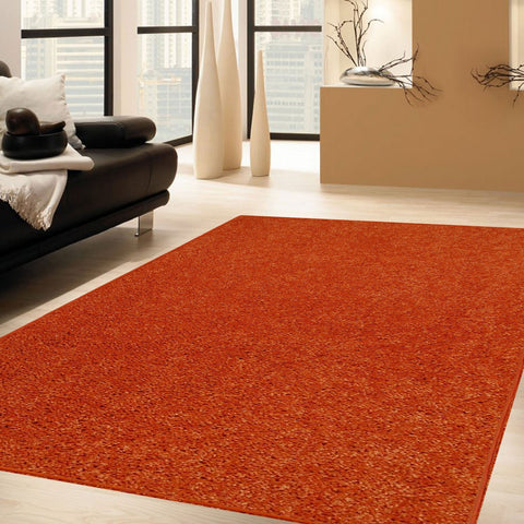 Solid Color Area Rug Halfround-Orange