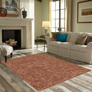 Solid Color Area Rug -Rust