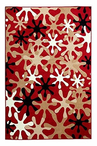 Splah Design Contemporary Area Rug Red - 3