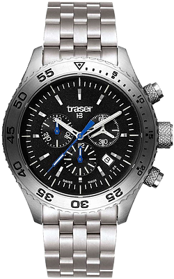 Traser T5 Aurora Tritium Chronograph with Steel Bracelet, model 106833