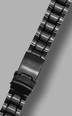 Traser Black PVD Solid Link Steel Signature Bracelet - 22 mm