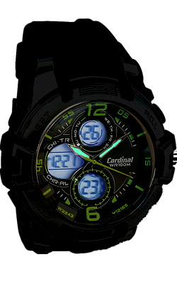 Cardinal Digital-Analog Alarm Chronograph with Back Light Display