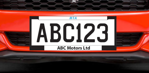 MTA Number Plates Surrounds - One Pair. Member Price: