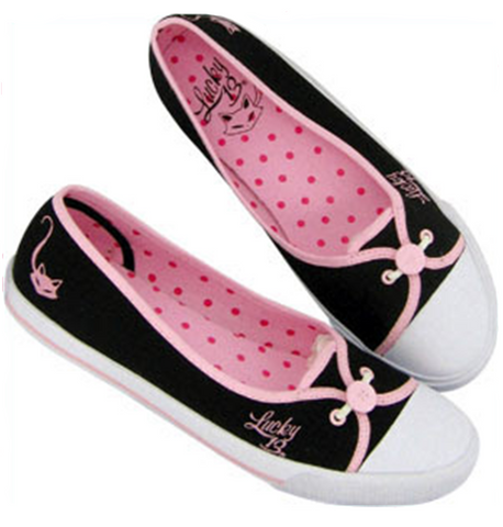 The PURRLICIOUS Flat - BLACK/PINK