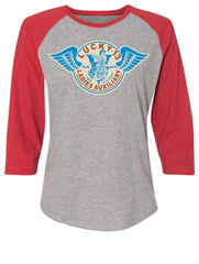 The LADIES AUXILIARY 3/4 Sleeve Raglan Tee