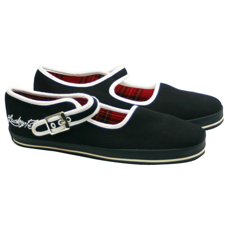 The TATTOOED MARY Flat - BLACK/WHITE
