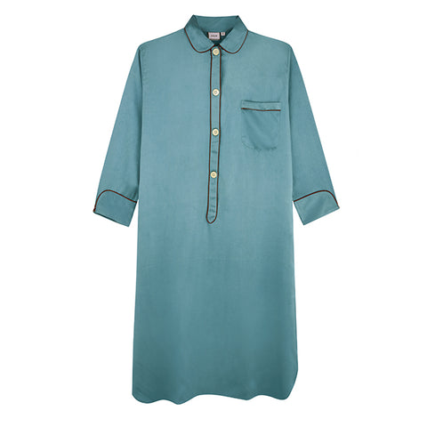 Blue Lapis Silk Nightshirt