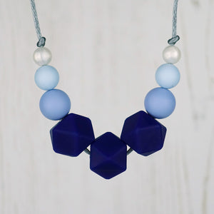 Bluebell Beauty: Flora Silicone Teething Necklace - Pebbles and Lace